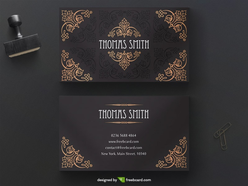 Download FREE Vintage Business Card Templates - Freebcard.com