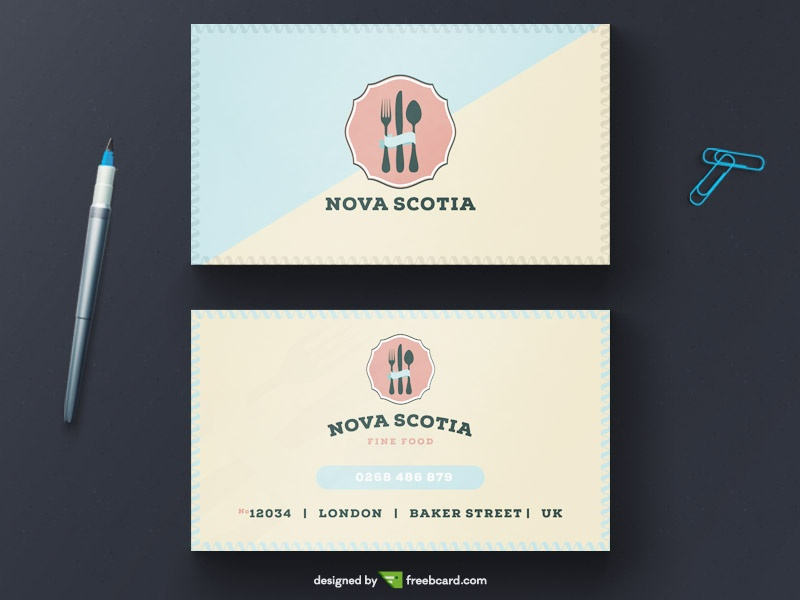Vintage Restaurant Business Card Tempalte Freebcard