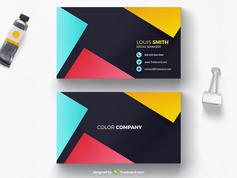 minimal business card design - Freebcard