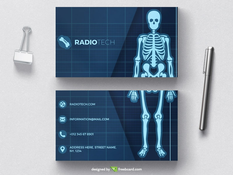 Clean modern medical business card template freebcard medical radiology business card tempate cheaphphosting Image collections