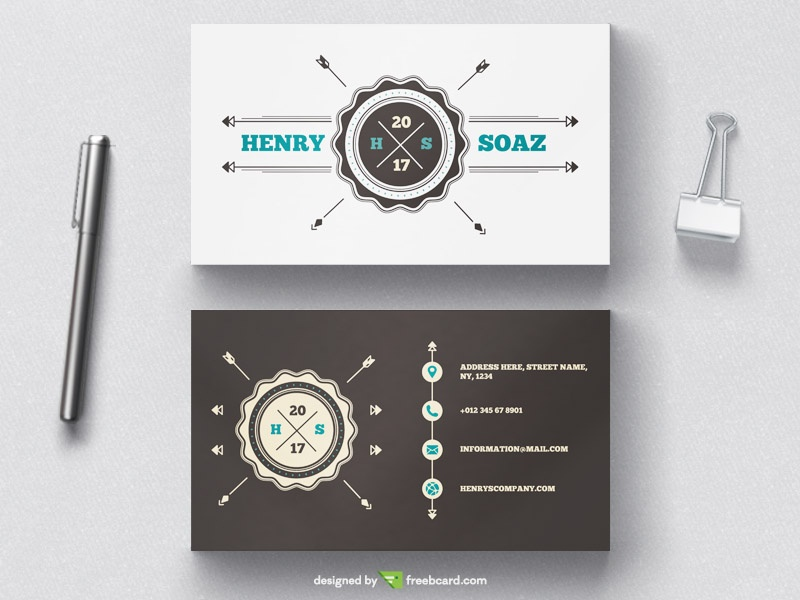 Vintage Badge Business Card Template Freebcard