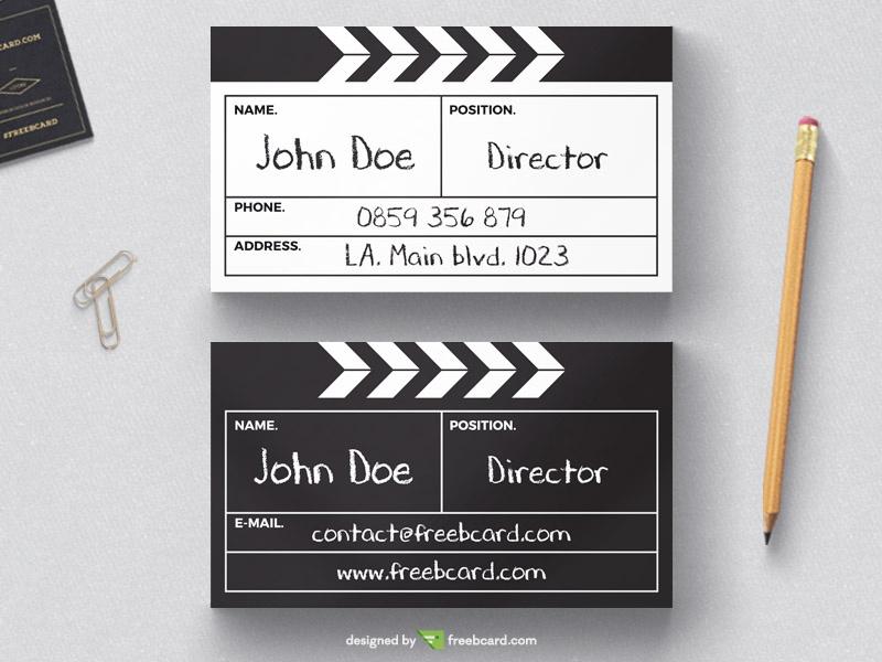 Directors cut board business card template - Freebcard