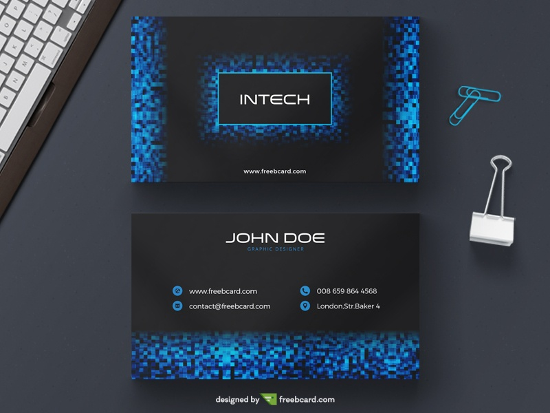 Download FREE Technology Business Card Templates - Freebcard.com