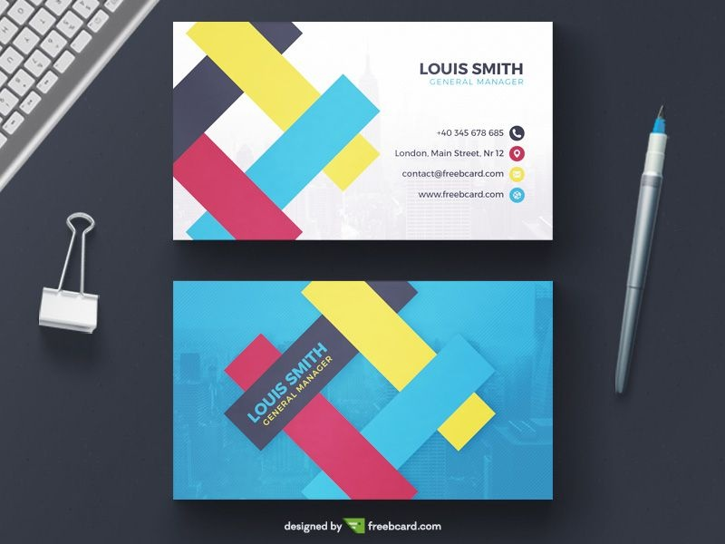 Creative FREE Business Card Templates & Business Card Photography