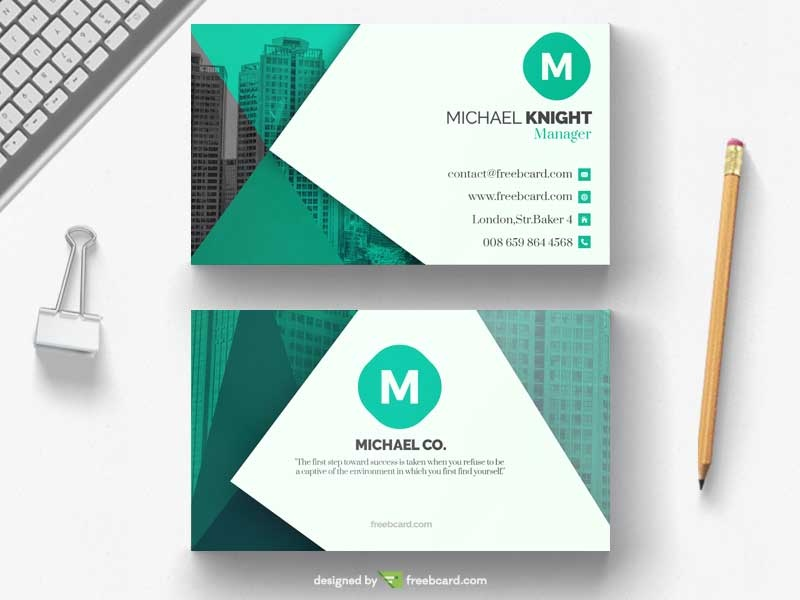 Green office business card template freebcard friedricerecipe Gallery